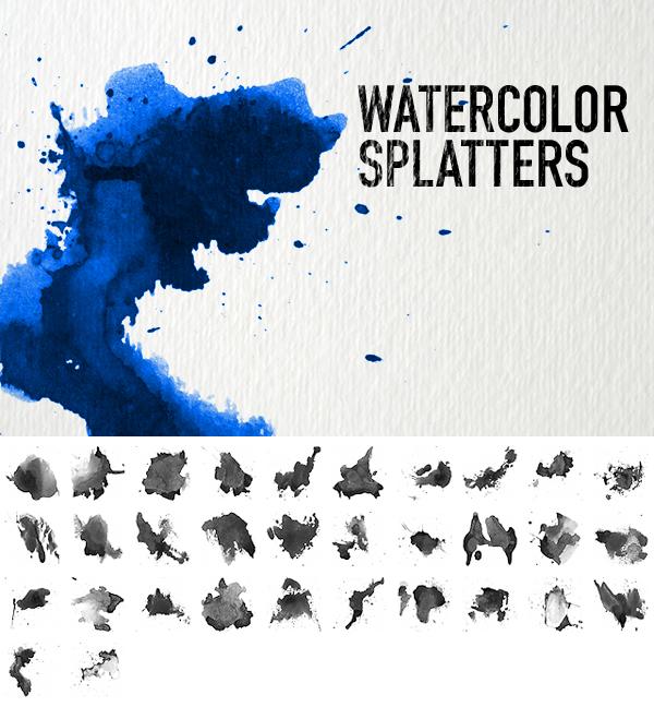 Watercolor Splatters by pstutorialsws
