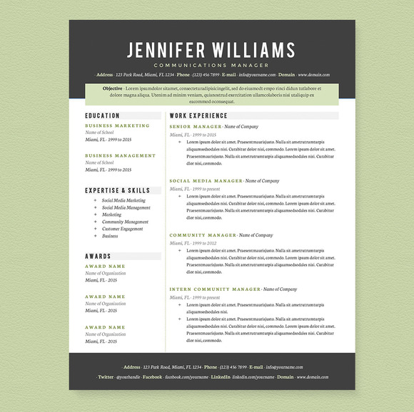 Well designed resume