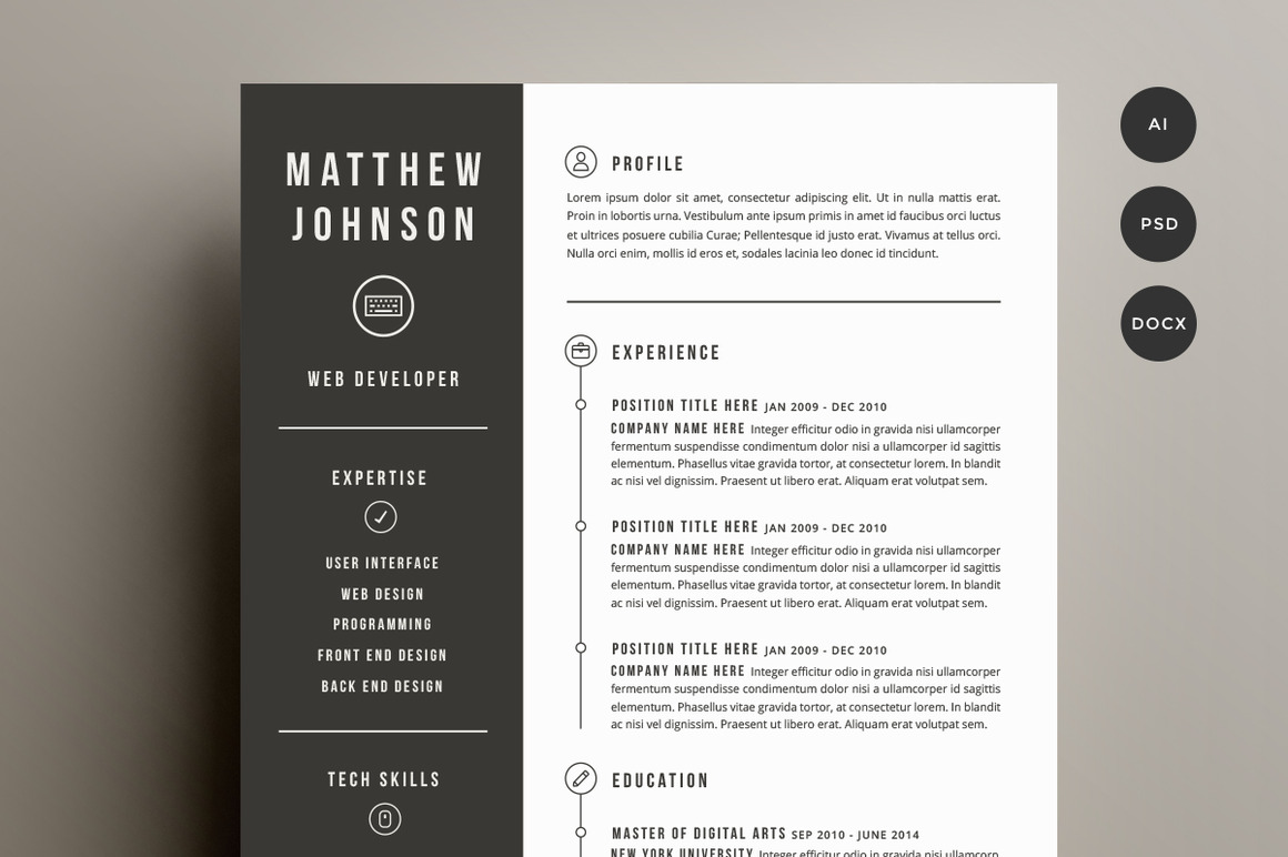 Free Resume Templates Cover Letter Template For Resume Template It Digpio  In Captivating