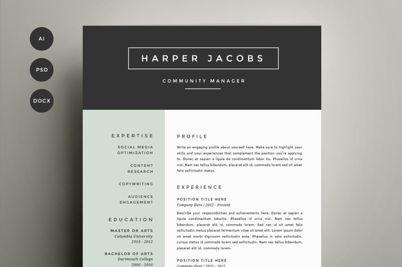 resume-template-4-pack-cv-template