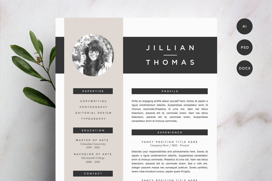 resume template 4 pack cv template1