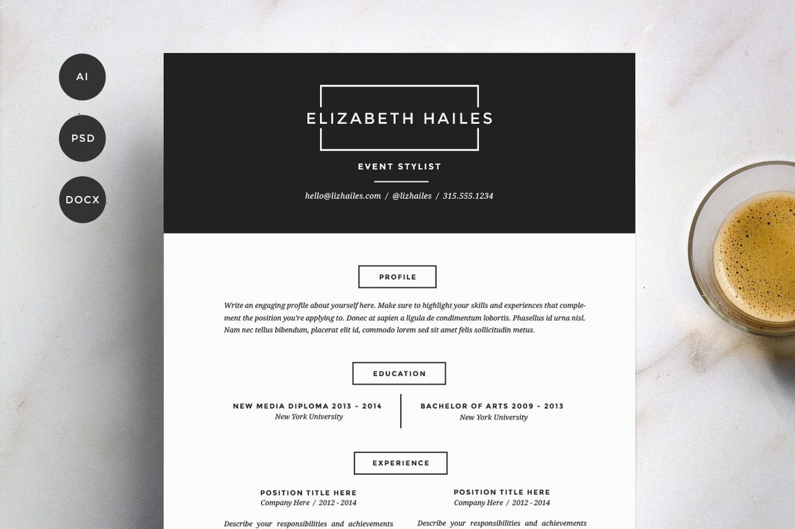 sexy resume templates guaranteed to get you hired inspirationfeed resume template 4 pack cv template3