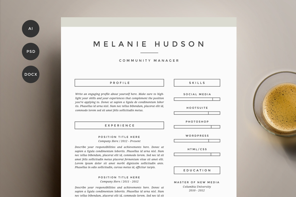 resume-template-4-pack-cv-template4