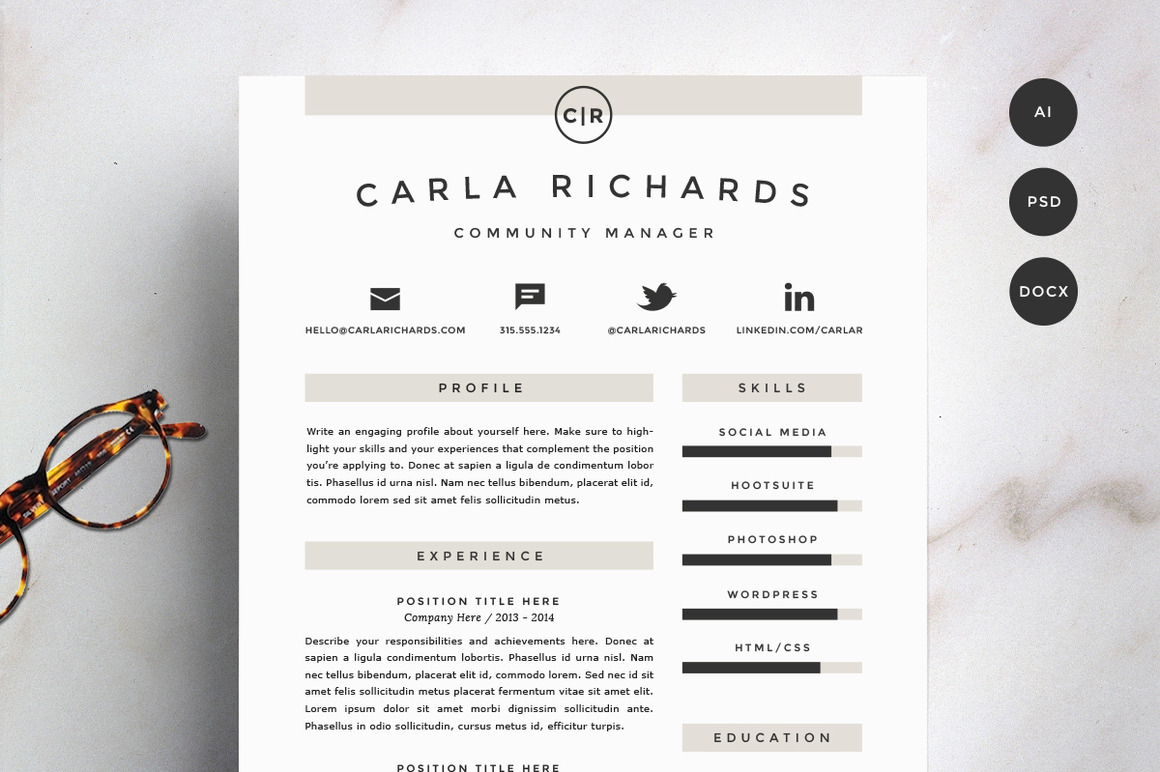 resume-template-4-pack