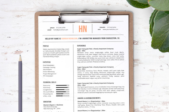 resume-template-the-hannah