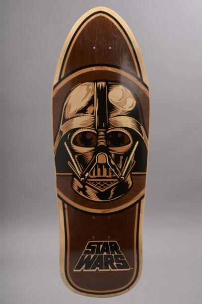 """Vader Inlay"" skate deck by Santa Cruz skateboard"