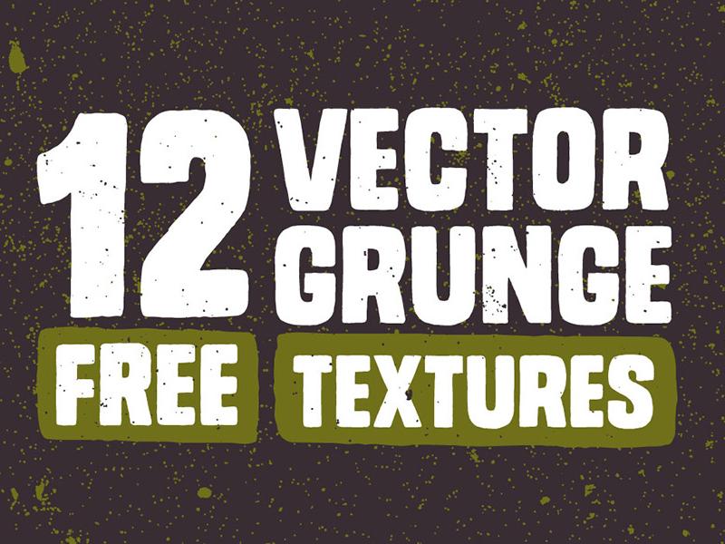 12 Free Vector Grunge Textures by Chris Spooner