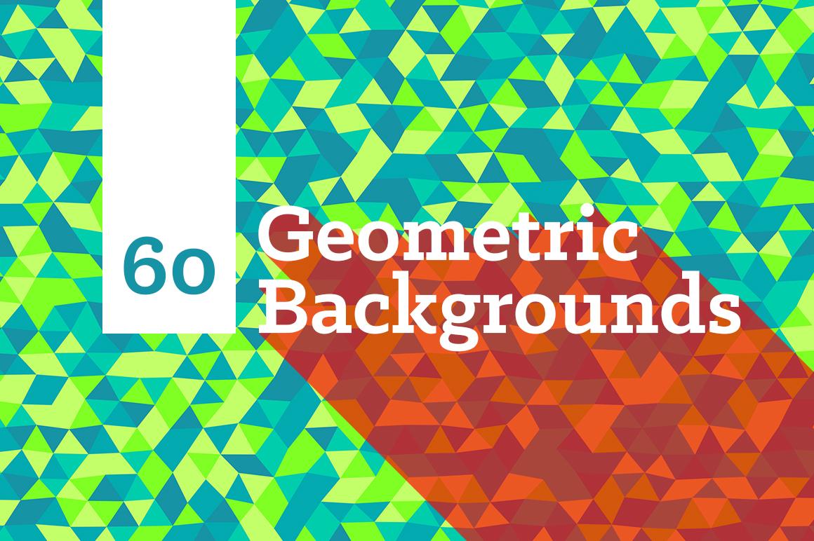60 Geometric Triangle Backgrounds