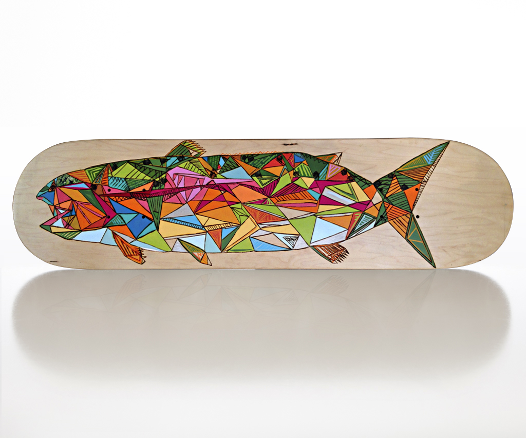 Ashby's No. 7 skateboard deck by Matthew Paris