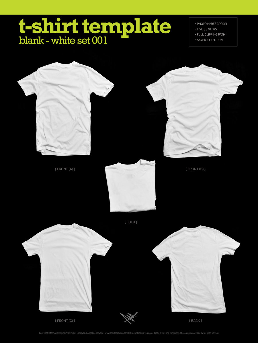Blank T-Shirt Template by Angela Acevedo