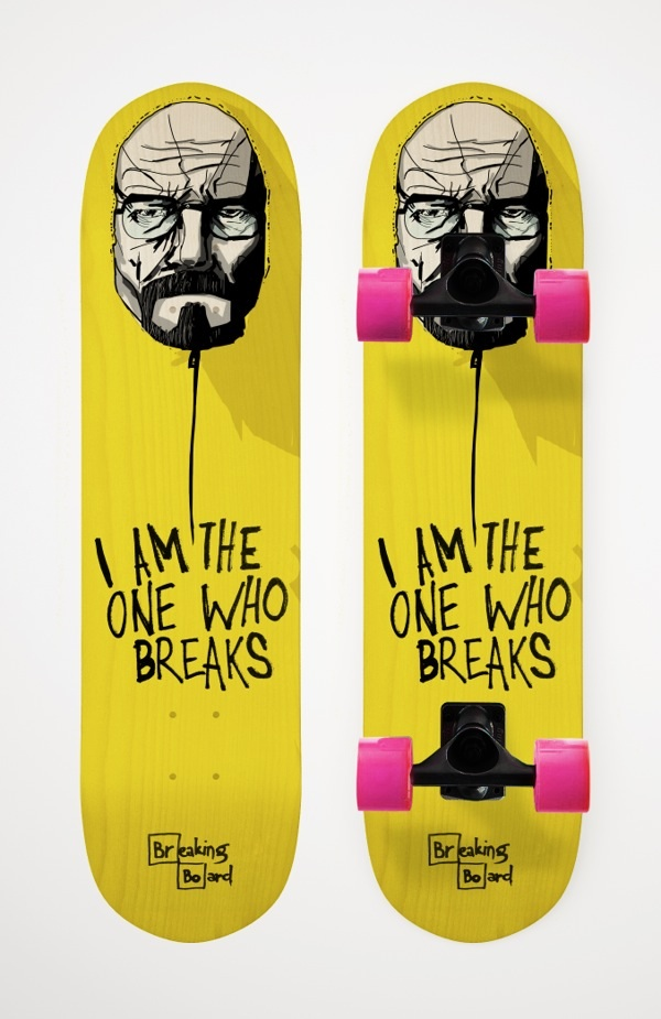 Breaking Board skateboard deck designed by Dusan Cezek