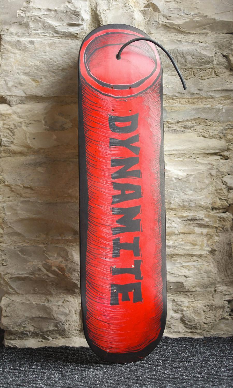 Dynamite skateboard deck by Bryn-Owens from Red Central