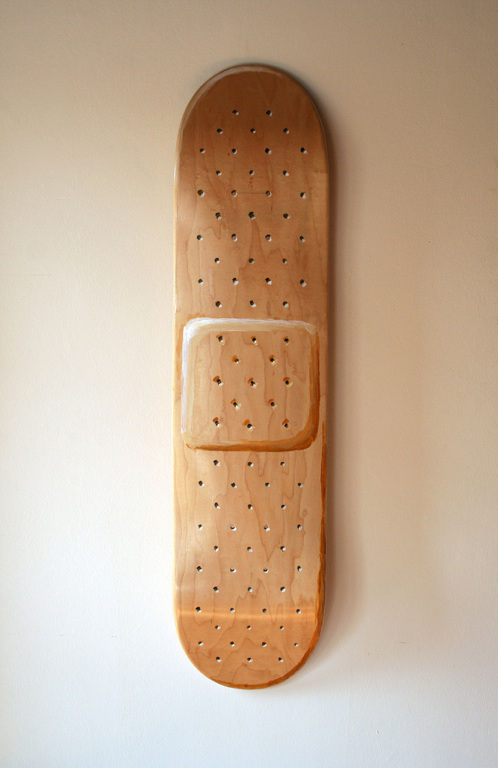 Hand-painted Band-aid skateboard