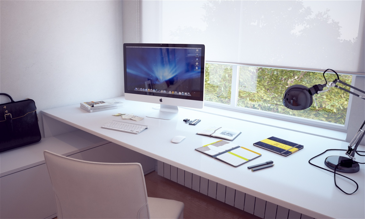Minimal Window Desk