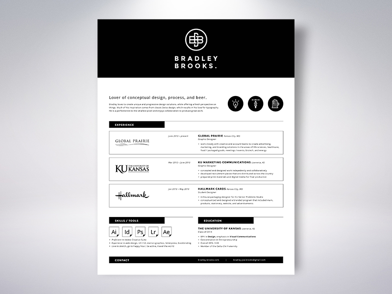 Resume by Bradley Brooks