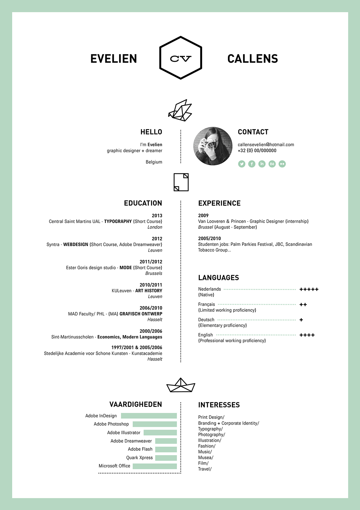 Resume by Evelien Callens