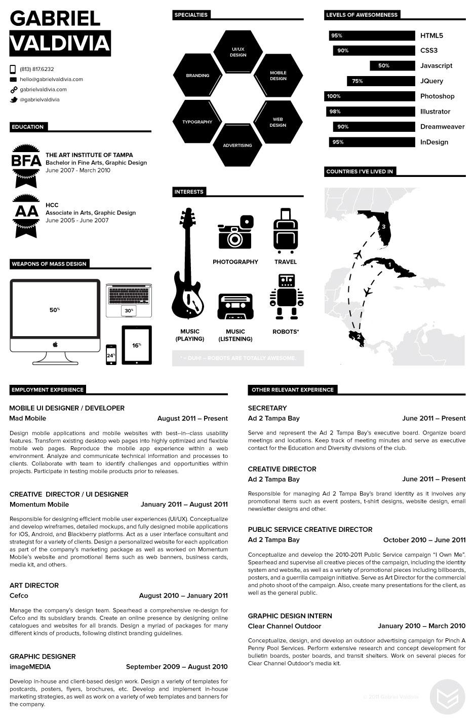 Resume by Gabriel Valdivia