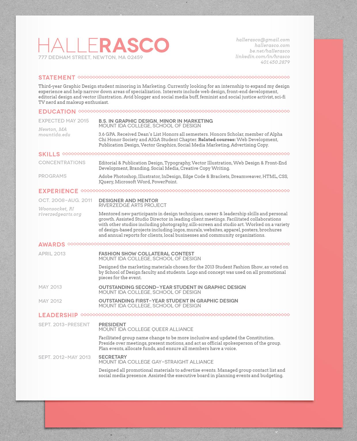 Resume by Halle Rasco