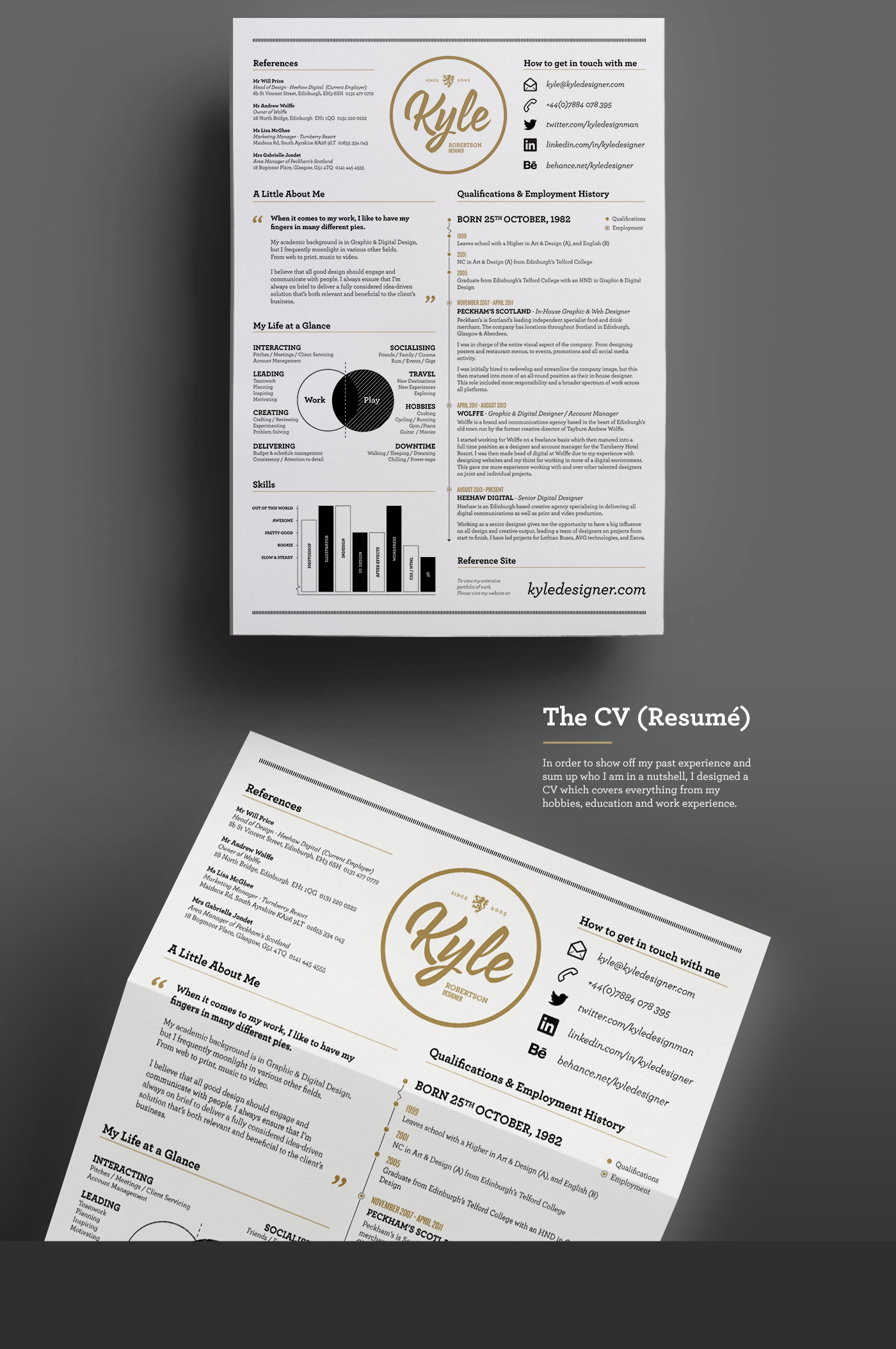 Resume by Kyle Robertson