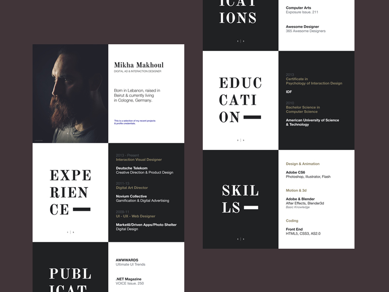 Resume by Mikha Makhoul