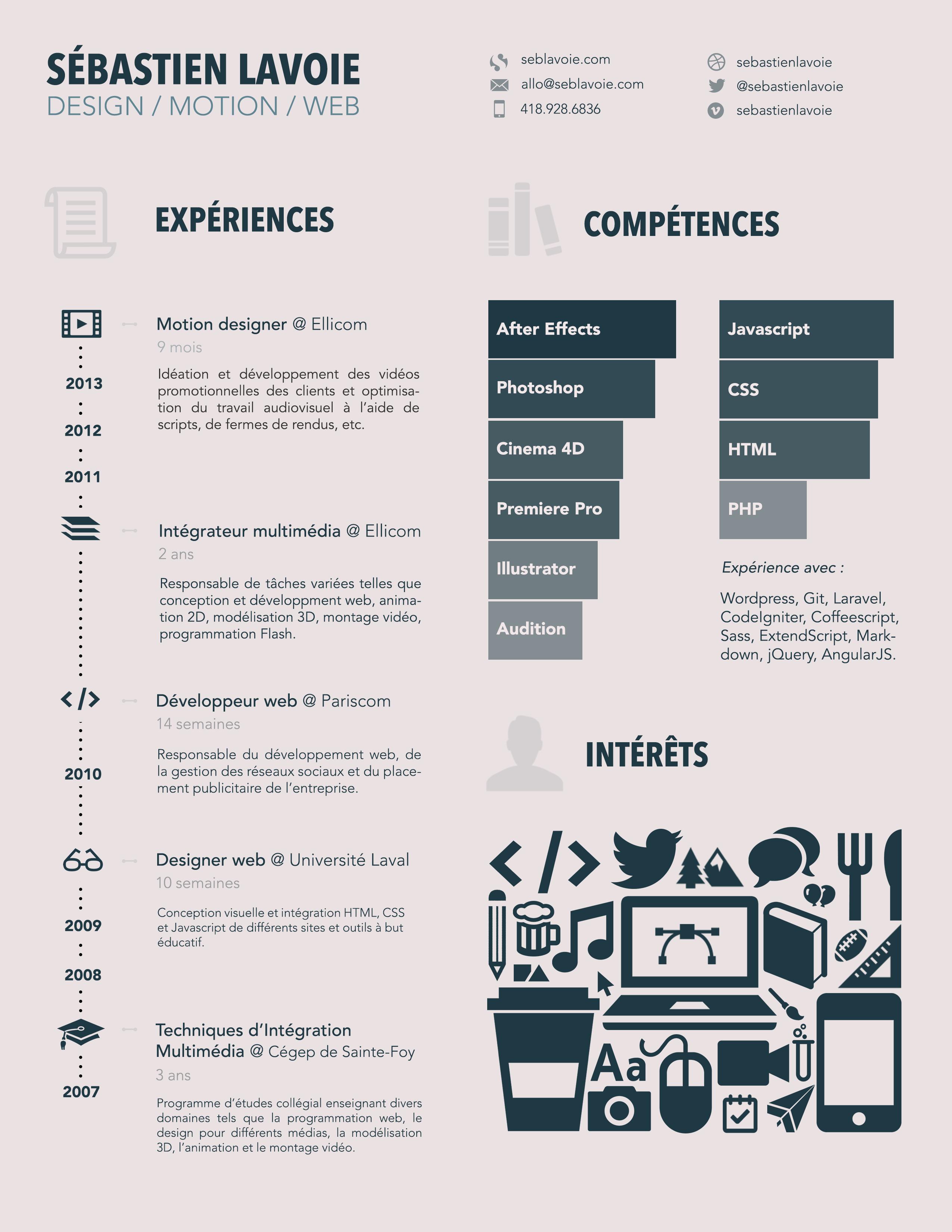 Resume by Sebastien Lavoie
