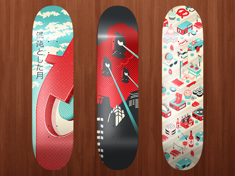 Skateboards by Chaotic Moon Studios