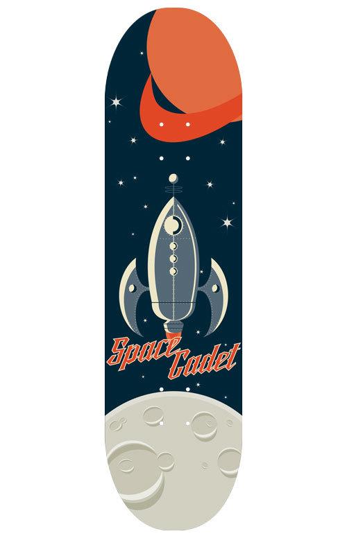 Space Cadet skateboard deck by cogwurx