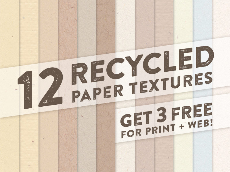 12 Recycled Paper Textures by Teela Cunningham