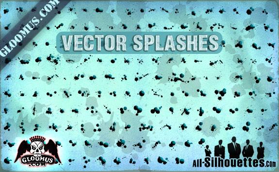 173 Grunge Vector Splashes