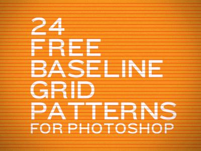 24 Free Baseline Grid Patterns by Colin Harman