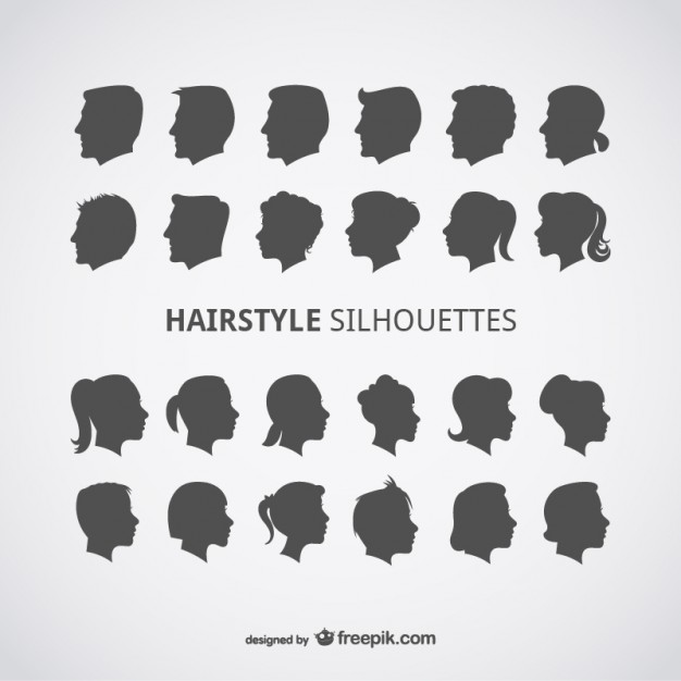 24 Hairstyles Vectors