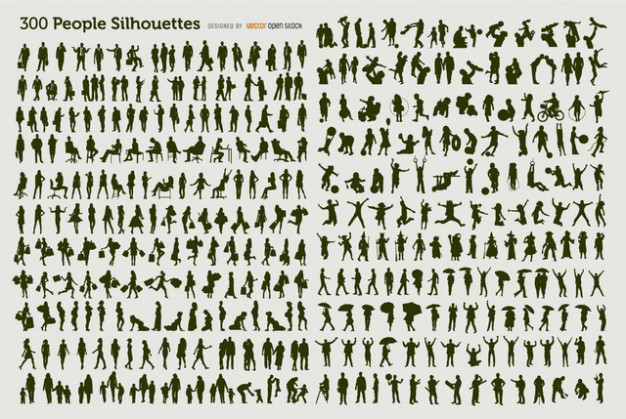 300 People Silhouette