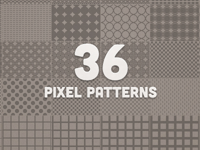 36 Pixel Patterns by Matt Gentile