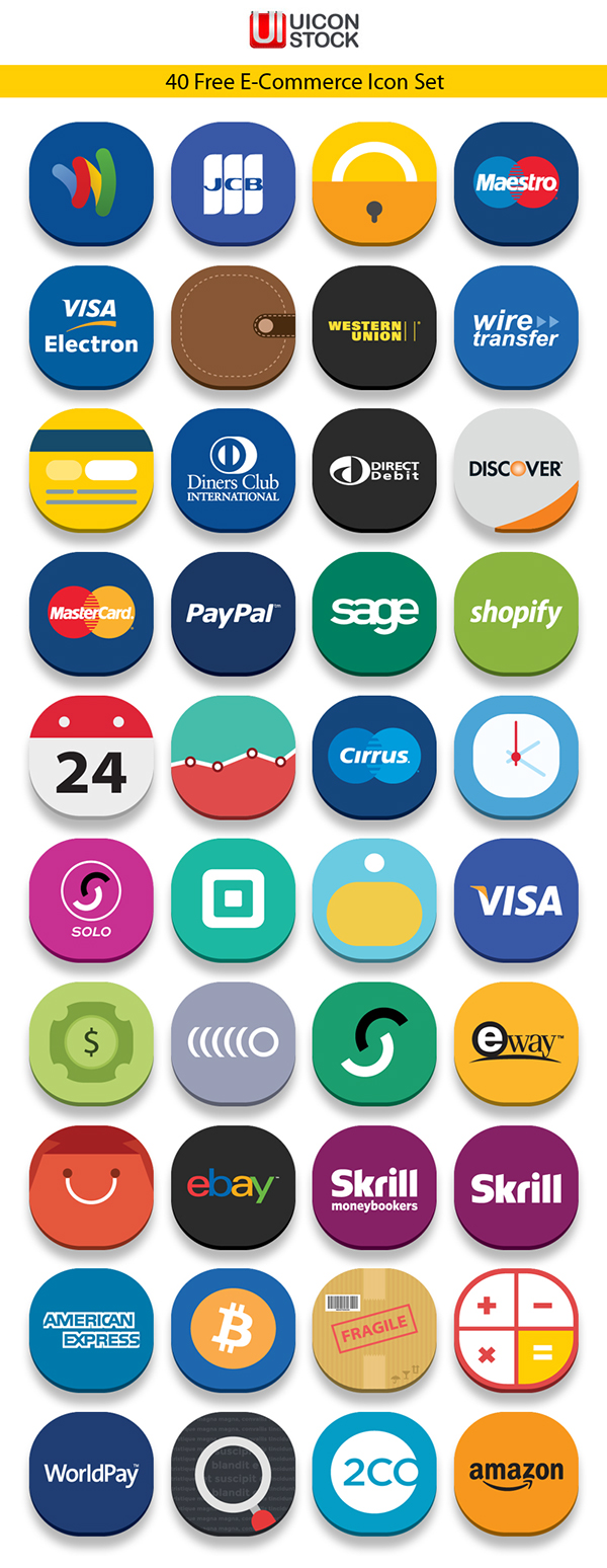 40 Free E-Commerce Icons
