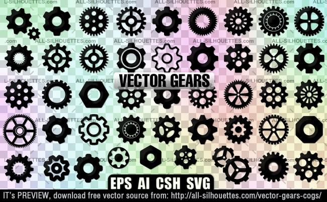 45 Vector Gears