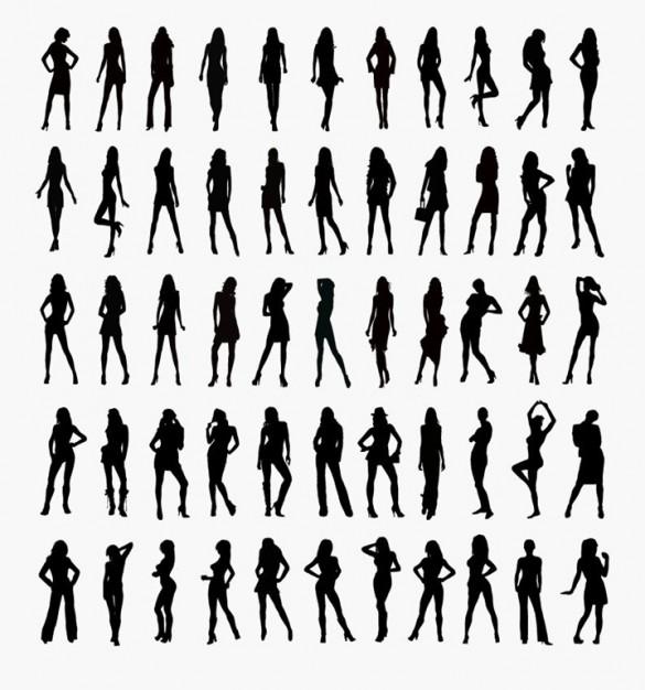 50 Human Silhouettes