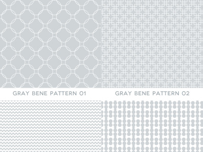 7 Gray Patterns by Bene