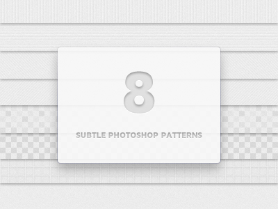 8 Subtle Photoshop Patterns by Matt Gentile