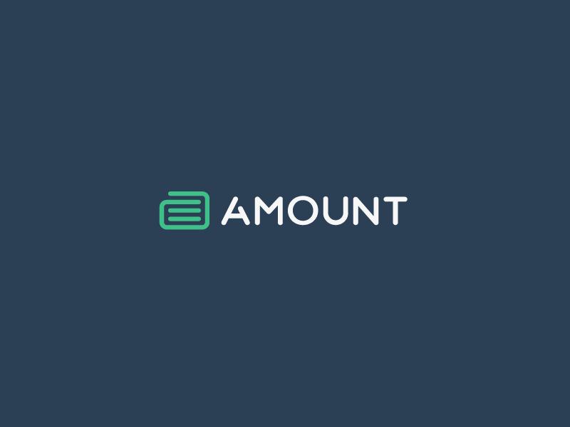 Amount Logo Design by Jeroen van Eerden