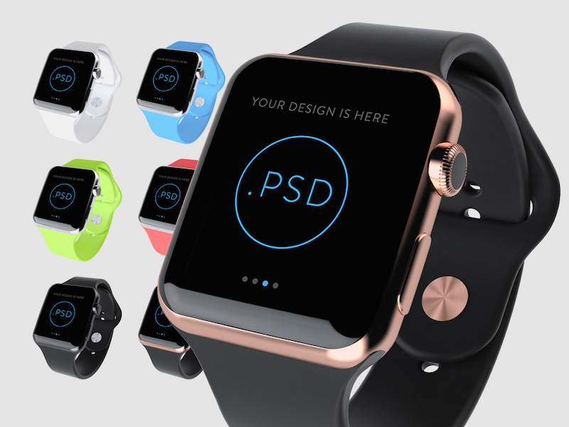 Apple Watch Free Mockup PSD by Super Crowds inc.