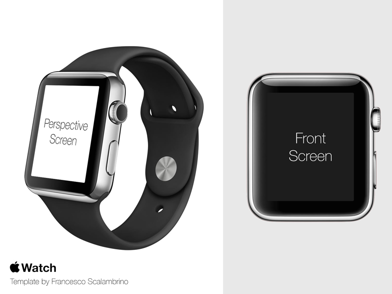 Apple Watch Free Template PSD by Francesco Scalambrino