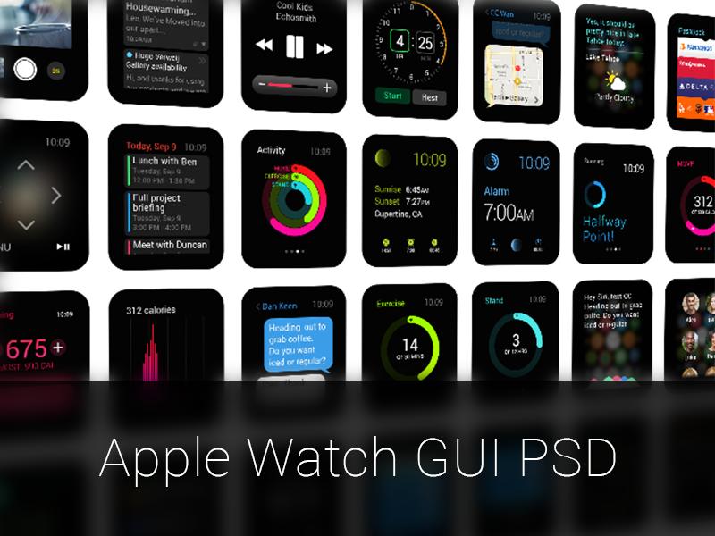 Apple Watch GUI PSD by impekable