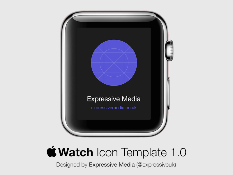 Apple Watch Icon Template by Expressive Media