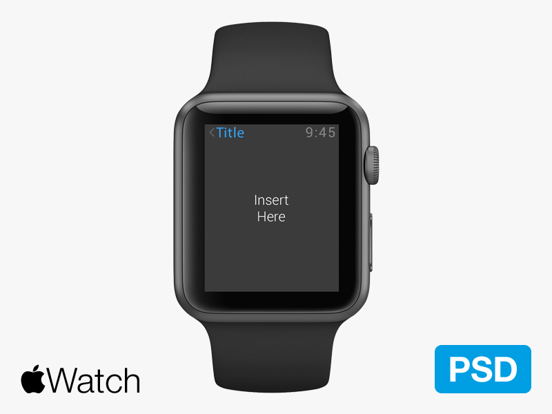 Apple Watch PSD by Kevin Py