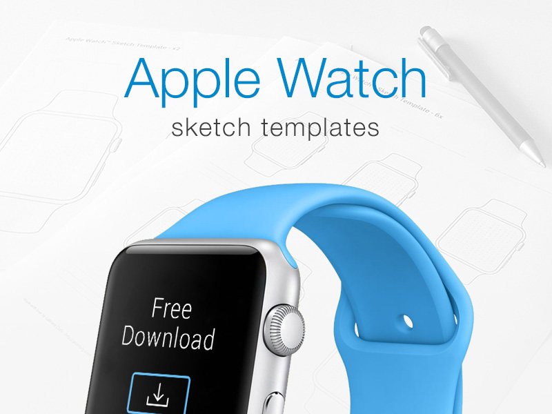 Apple Watch Prototyping Templates by Gabriele Ciufo