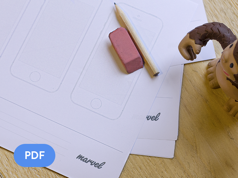 Apple Watch, iPhone, iPad & Android sketch paper! [FREE] by Maxime De Greve
