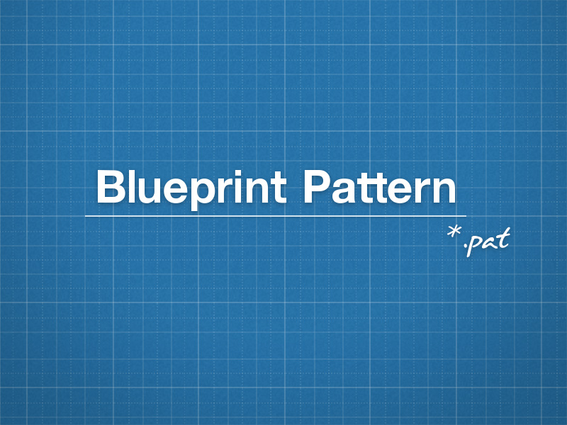 Blueprint Pattern by Benjamin Roesner