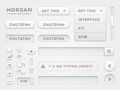 Chutzpah UI Design Kit by Morgan Allan Knutson