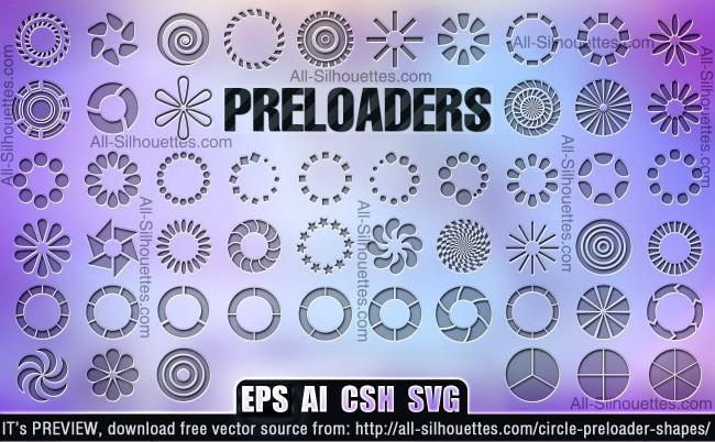 Circle Preloaders Shapes