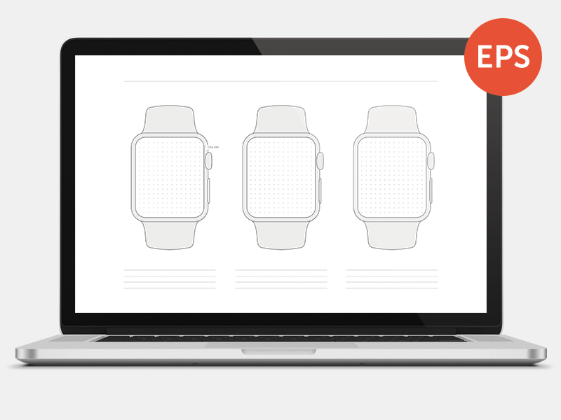 Free Apple Watch Wireframe Template - Printable by Matthew Stephens